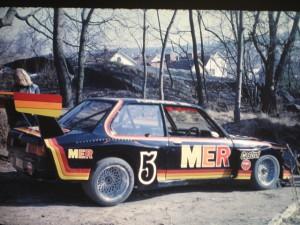 MER-BMW'n ute i solen första gången i april 1976