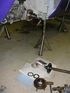 Renoverat slutväxeln och byte av hjullager.