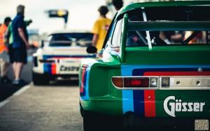 Och, hur gick det då? 78 bilar i startfäktet. Grym start med raka rör. Inga decibellmätningar här inte. 'Vår' bil, den Gröna Gösser-Beer slutade 10,a och Alex & Adrian slutade 3,a i sin CSL från -73.