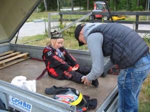 Axel började köra sin Cadetti under sommaren och har gjort fantastiska framsteg. Imponerande körningar.