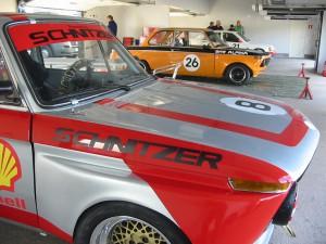 Underbart att se Magnus Holmströms BMW i nya kläder. Schnitzer och Alpina i samma depåbox! Precis som på 70-talet.
