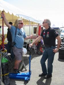Min gamla kompis 'Honda-Ove' hade med sig celebert besök från USA. Tomas Kutscher från SKUSA Superkarts USA. Ägare och drivkraft bakom hela USA,s Go-kartverksamhet.