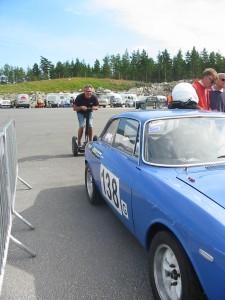 Magnus Holmström linar up! Men var det inte med BMW,n du var anmäld?