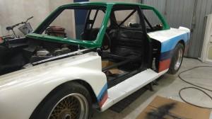 BMW 320 Gr 5 projekt. Avancerar så smått.