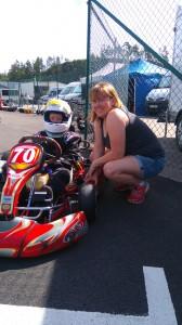 Mamma Annelie älskar racinglivet.